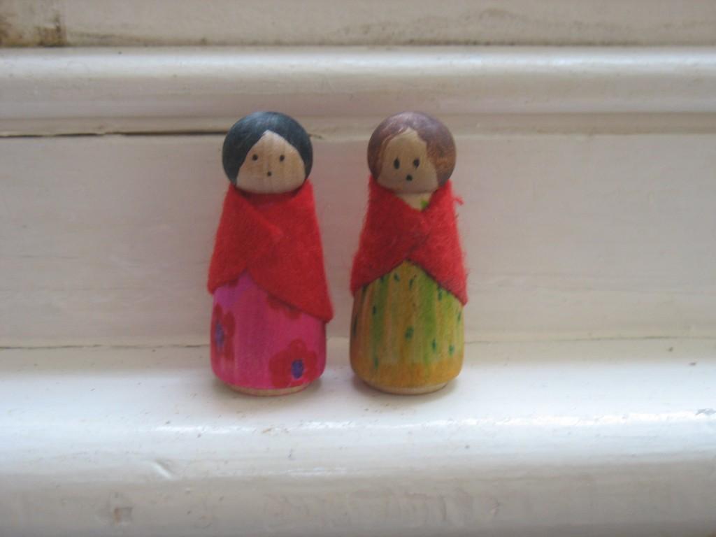 Vasilissa peg dolls